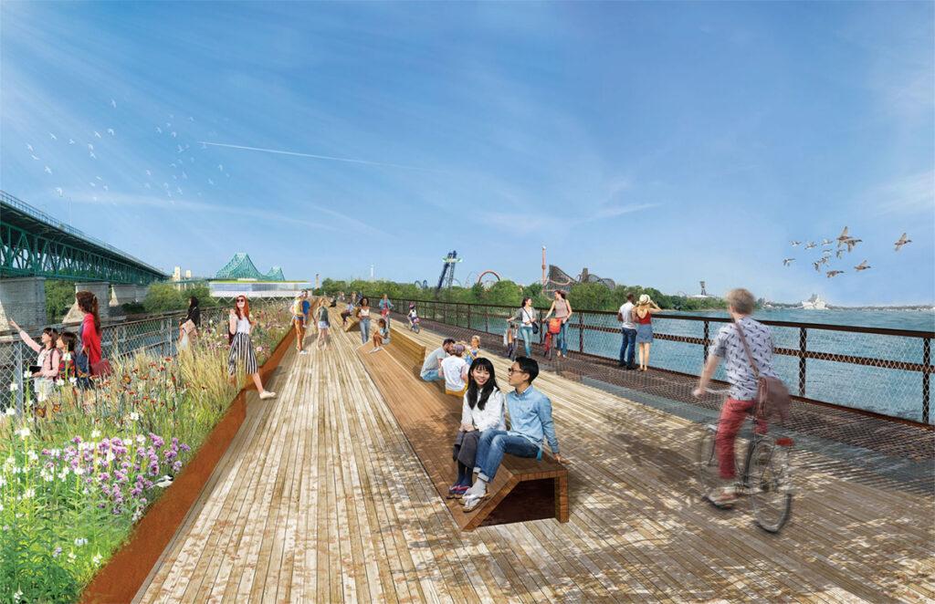 Plan futur du Pont de l'Expo-Express