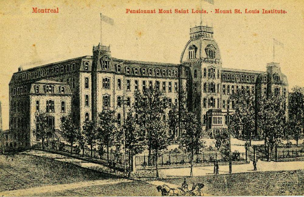 Carte Postale de 1903 du pensionnat Mont Saint Louis