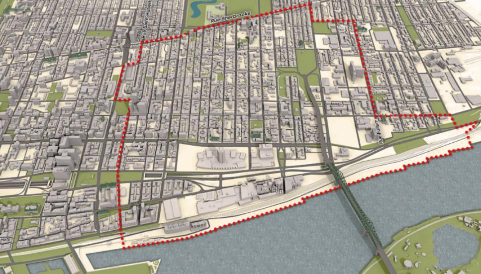 Plan du Faubourg de Ville-Marie